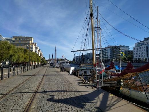 Walking along the pier in Sodermalm