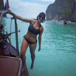Maya Bay's blue water