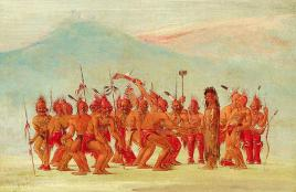 Ceremonial dance to celebrate the two-spirit person by George Catlin (1796-1872) courtesy of NPR Next Generation Radio