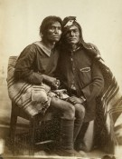 Navajo two-spirit couple by Bosque Redondo, 1866 from Museum of NM, courtesy of NPR Next Gen Radio